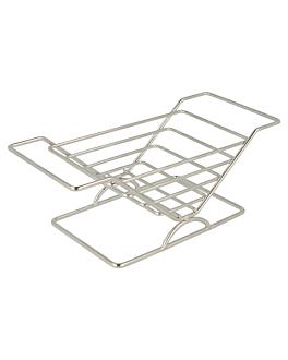 spaziatore per panini 20,3x8,9x7,6 cm argento acciaio inox (12 unitÀ)