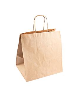 sacos sos catering com asas 90 g/m2 26+20x27 cm natural kraft (250 unidade)