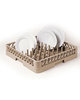 rack for plates or trays < 45 cm 50x50x10 cm beige pp (1 unit)