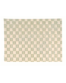 plaited rafia table mat 30,3x42,70 cm beige raffia (1 unit)