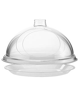 plato de base llano Ø 2,5 cm transparente acrÍlico (1 unid.)