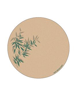 bases para copos 'feel green' 210 g/m2 Ø9 cm marrÓn cartolina (6000 unidade)