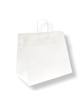 sacos sos catering com asas 90 g/m2 32+21x28,5 cm branco celulose (250 unidade)