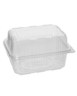 confectionery containers + lid 500 ml 11,5x15,3x9 cm clear rpet (800 unit)