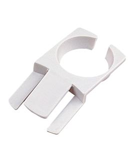 porte-verres pour fixer À l'assiette 7,5x4,2 cm blanc plastique (200 unitÉ)