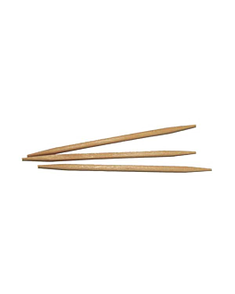 round toothpicks 6,8 cm natural wood (1000 unit)