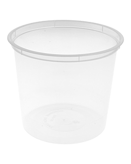 microwaveable containers 700 ml Ø 11,5x10 cm clear pp (500 unit)