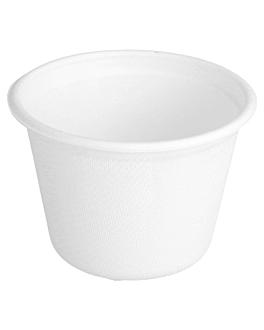 pots 'bionic' 140 ml Ø 7,7x5,3 cm blanc bagasse (1000 unitÉ)