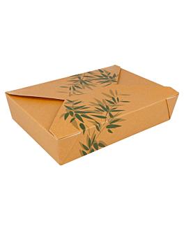 scatole americane per micro. 'feel green' 1470 ml 300 g/m2 + 12pp 19,8x14x4,8 cm marrone cartone (50 unitÀ)