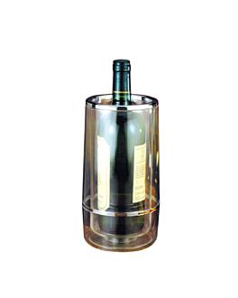 funda botellas vino Ø 12x23 cm transparente acrÍlico (1 unid.)