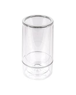 housse bouteille vin Ø 12x23 cm transparent acrylique (1 unitÉ)