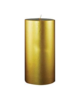 bougie cylindrique 7,5x15 cm or paraffine (1 unitÉ)