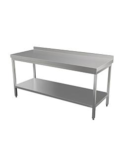 mesa trabajo con dosel 160x70 cm plateado acero (1 unid.)