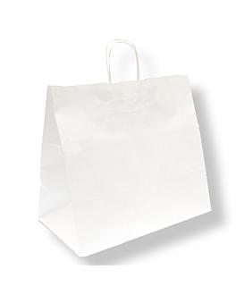 sacos sos catering com asas 90 g/m2 36+21x33,5 cm branco celulose (250 unidade)