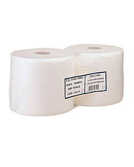 roller towel 1 ply - 260 sheets 55 gsm Ø 27x24 cm white airlaid (2 unit)