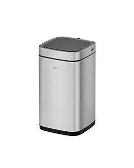 motion sensor trash can 12l 24,2x24,4x42,8 cm silver stainless steel (1 unit)