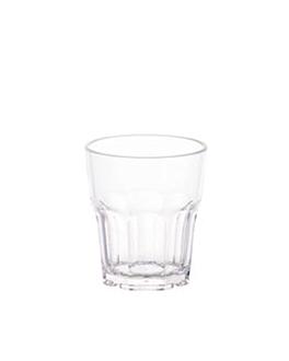 stackable cups 240 ml Ø 7,8x8,8 cm clear polycarbonate (24 unit)