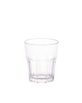 bicchieri impilabili 240 ml Ø 7,8x8,8 cm trasparente policarbonato (24 unitÀ)