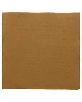 serviettes ecolabel 'double point' 18 g/m2 39x39 cm havane ouate (1200 unitÉ)