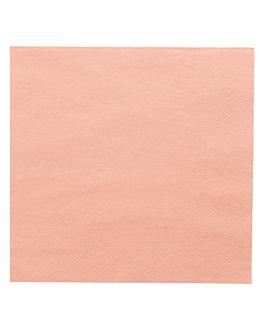 serviettes ecolabel 2 plis 18 g/m2 39x39 cm rose ouate (1600 unitÉ)