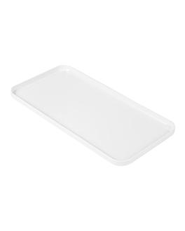 vassoi per prodotti accoglienza 23x11,5 cm bianco ps (10 unitÀ)