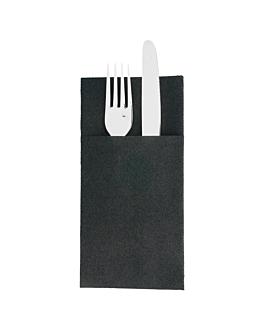 servilletas canguro plus 55 g/m2 40x45 cm negro airlaid (720 unid.)