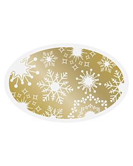 1000 u. etiquetas blanco mate 5,5x3,5 cm oro adhesivo (1 unid.)