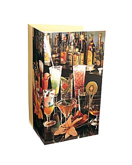 """carta 3 cuerpos """"bar"""" 47x30 cm surtido cartoncillo (1 unid.)"""