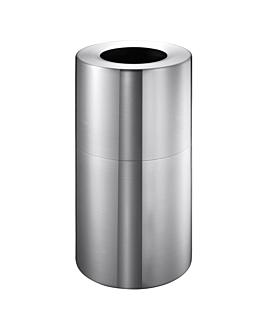 poubelle de luxe Ø 38x77,5 cm argente aluminium (1 unitÉ)