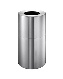 papelera de lujo Ø 38x77,5 cm plateado aluminio (1 unid.)