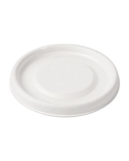 coperchio per terrine 150.60 'bionic' Ø 7,7 cm bianco bagassa (1000 unitÀ)