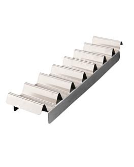 """plateau pour """"hot dogs"""" 10,2x47,3 cm argente acier (1 unitÉ)"""
