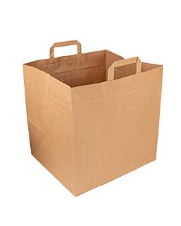 sos bags for pizza boxes 110 g/m2 36+31x36 cm natural kraft (125 unit)