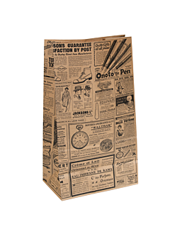 sos bags without handles 'times' 80 gsm 25+15x43,5 cm natural kraft (250 unit)