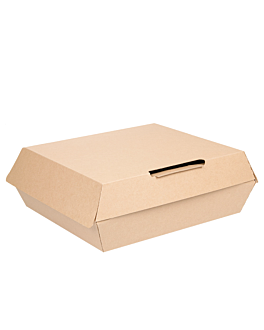 large lunch box 'thepack' 250 gsm 23,5x24x8,7 cm natural nano-micro corrugated cardboard (150 unit)