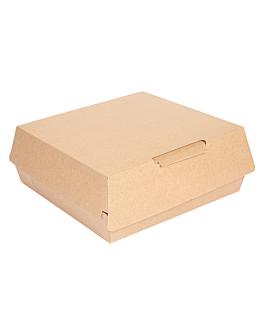 "boÎtes ""large lunch box"" 'thepack' 250 g/m2 23,5x24x8,7 cm naturel carton ondulÉ nano-micro (150 unitÉ)"
