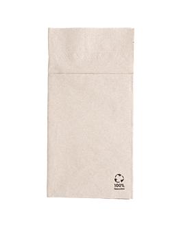 kangaroo ecolabel napkins 2 ply 18 gsm 40x40 cm natural recycled tissu (1000 unit)