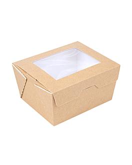 scatole con finestra 'thepack' 780 ml 220 g/m2 + opp 11,2x9x6,4 cm naturale cartone ondulato a nano-micro (300 unitÀ)