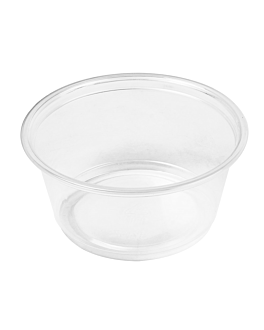 small microwavable containers 100 ml Ø7,4x3,5 cm clear pp (2500 unit)