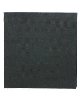ecolabel napkins 'double point' 18 gsm 33x33 cm black tissue (1200 unit)