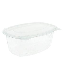 recipiente c/ tampa 1 l 17,7x12,5x8,5 cm transparente pet (400 unidade)