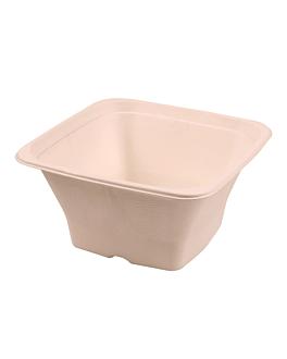 square bowls 'bionic' 1,2 l 18x18x9 cm natural bagasse (400 unit)