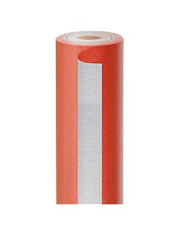 papel regalo 50 m rojo-plata 60 g/m2 70 cm kraft verjurado (1 unid.)