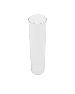 injected mini tubes 130 ml Ø 4,5x10,5 cm clear ps (200 unit)