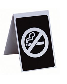 "caballete ""no fumar"" 7x10 cm negro pvc (1 unid.)"
