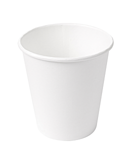 vasos bebidas calientes 1 pared 300 ml 300 + 18 pe g/m2 Ø9/6x9,5 cm blanco cartoncillo (1000 unid.)