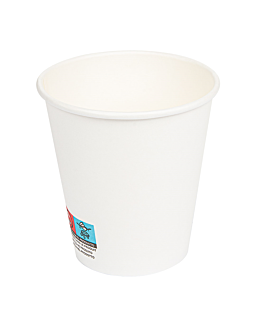 gobelets boissons chaudes 1 paroi 300 ml 300 + 18 pe g/m2 Ø9/6x9,5 cm blanc carton (1000 unitÉ)