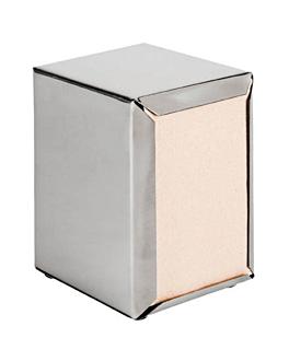 dispensador per tovallÓ mini servis 11x9x13,5 cm platejat inox (12 unitat)