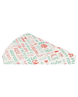 envases triang. pizzas 'parole' 18x23x3 cm blanco cartÓn (400 unid.)