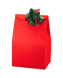 50 u. bolsas 28x20x41 cm rojo cartÓn (1 unid.)